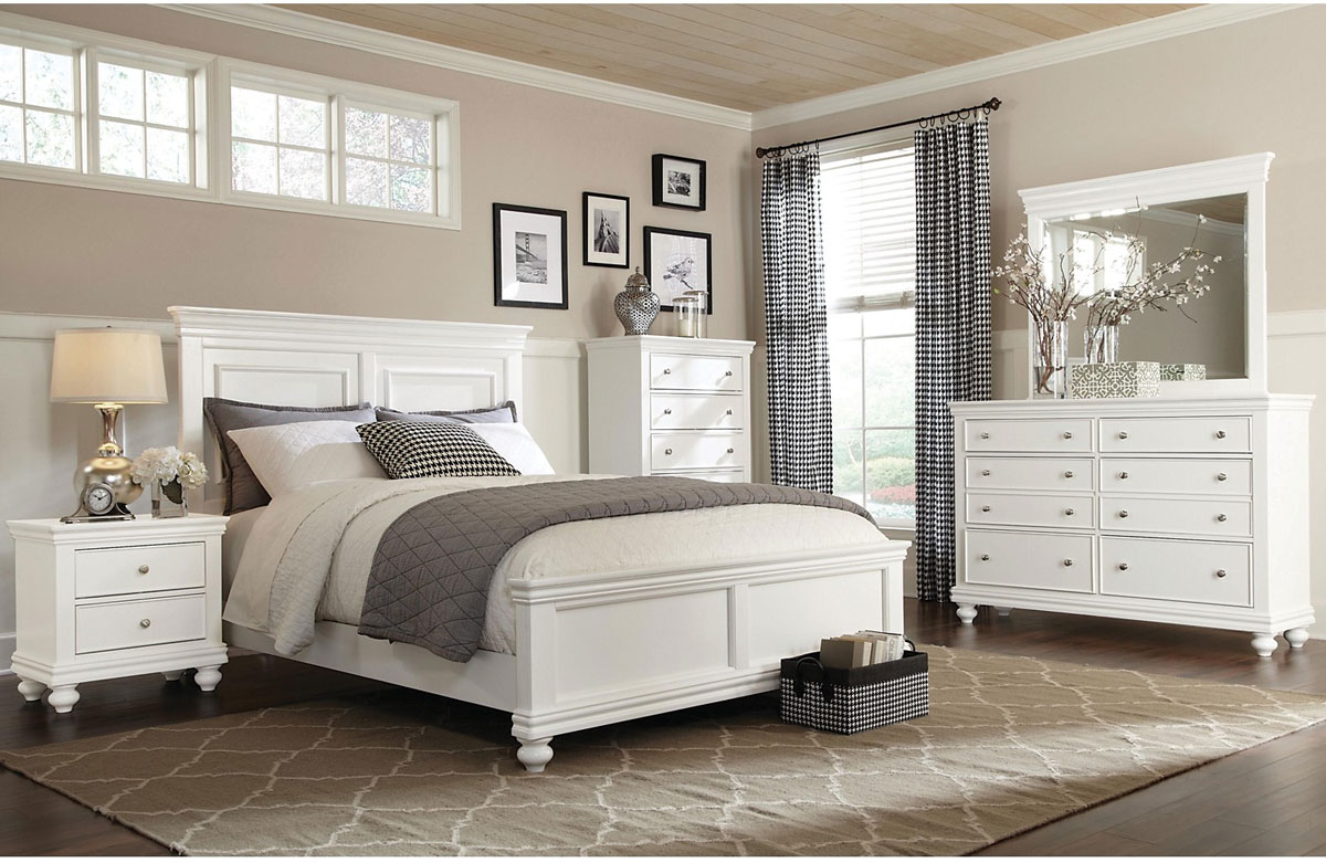 Bridgeport Queen 6 Piece Set in White