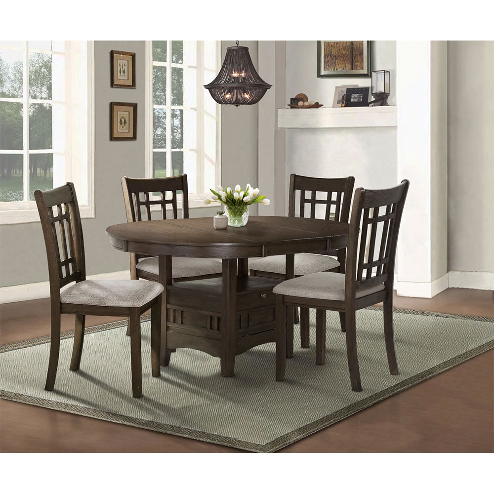 Bristol 5-Piece Dining Package in Brown