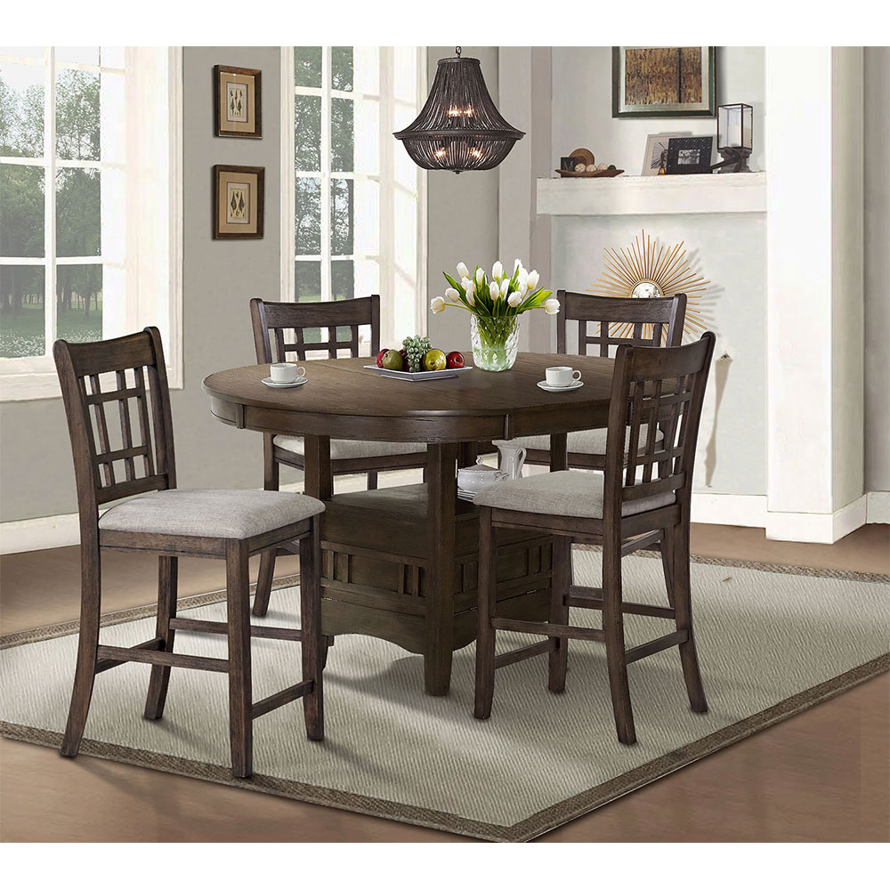 Bristol 5-Piece Counter-Height Dining Package in Brown