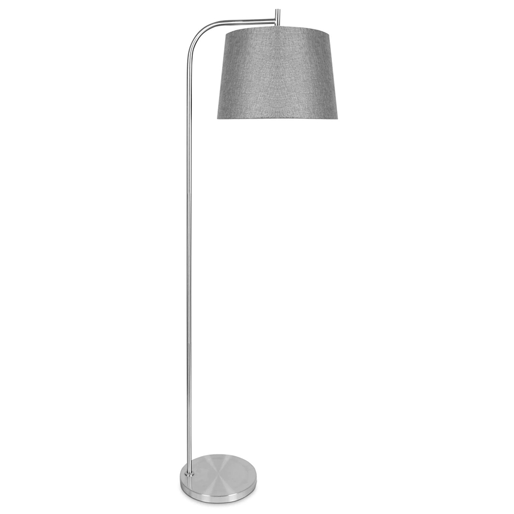 Krystin brushed steel floor lamp aloadofball Image collections