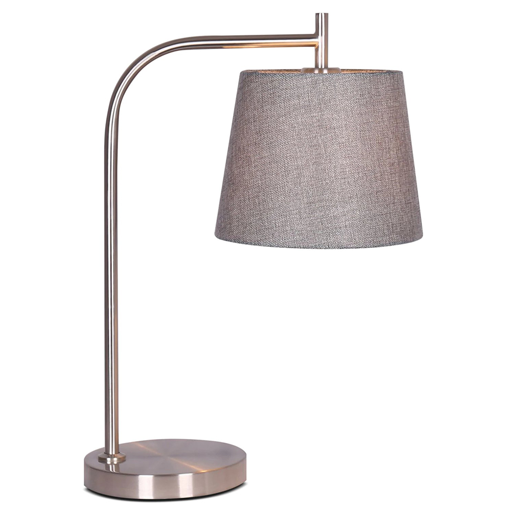 Krystin brushed steel table lamp aloadofball Image collections