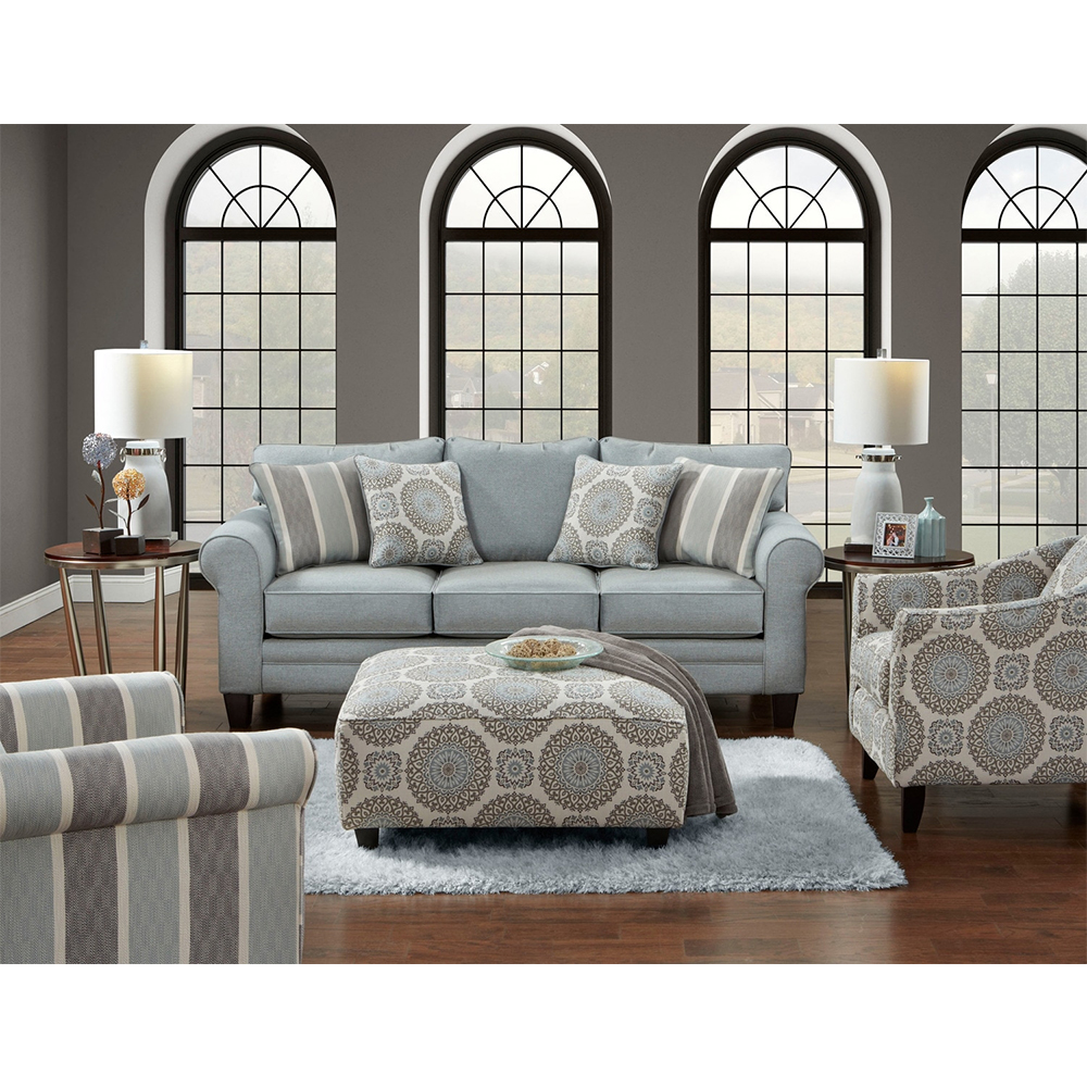 Tamy Fabric Sofa in Mist Color Fabric