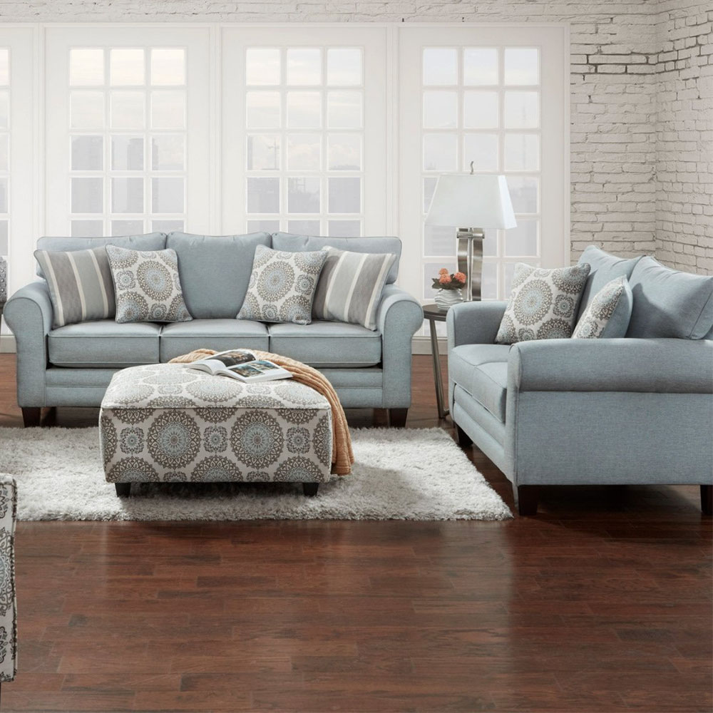 Tamy Living Room SetIncludes: Sofa & LoveseatFabric in Mist