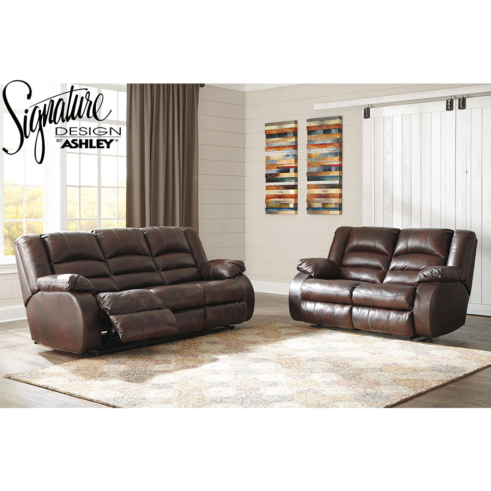Levelland Recliner Living Room Set Includes: Sofa & Chair in Genuine Leather by Ashley