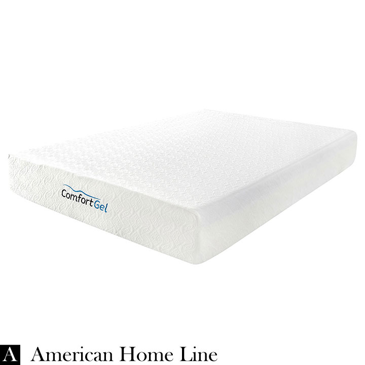 "Comfort Gel 10"" Queen Mattress  Set Includes: Mattress and 2-in-1 Bed & Box Spring"