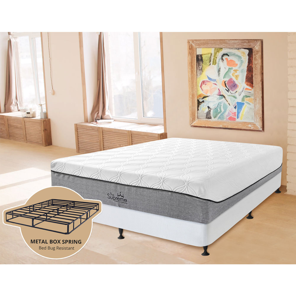 "The Supreme Hybrid 13"" Queen Set  Includes: Mattress and   2-in-1 Bed & Box Spring"