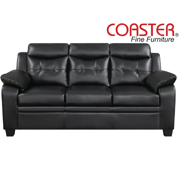 Finley Ultra Plush Leatherette Sofa by Coaster