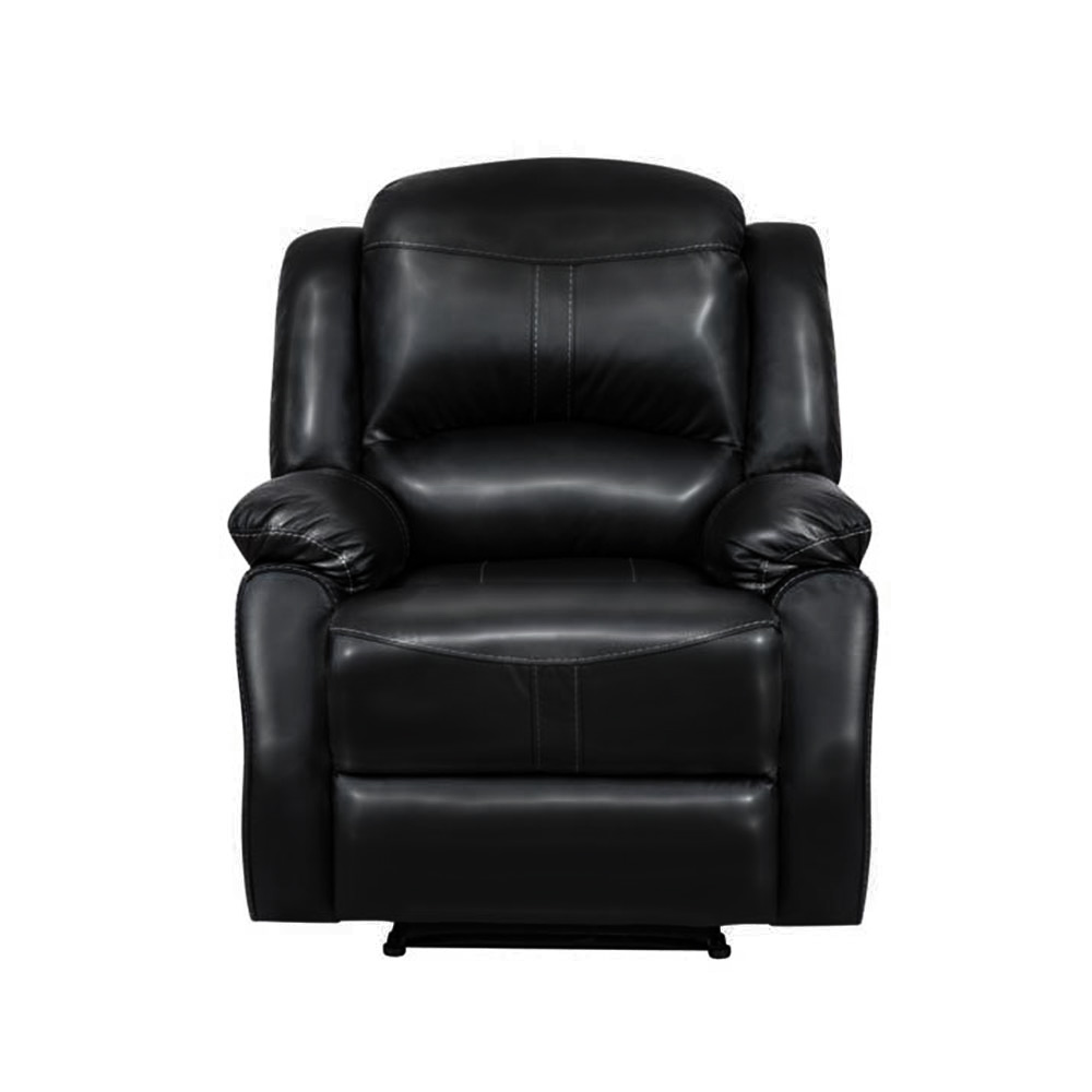 Lorraine Recliner Chair in Ebony Bonded Leather