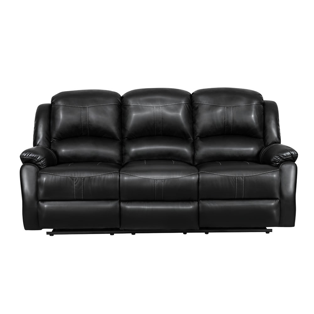 Lorraine Recliner Sofa in Ebony Bonded Leather