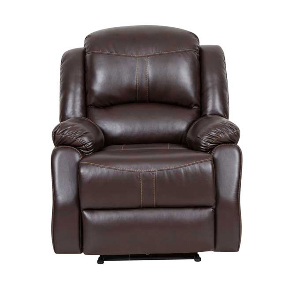 Lorraine Recliner Chair in Mocha Bonded Leather