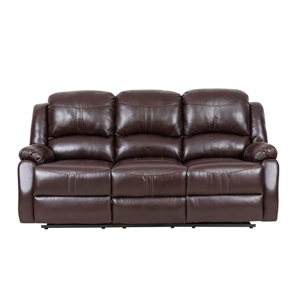 Lorraine Recliner Sofa in Mocha Bonded Leather