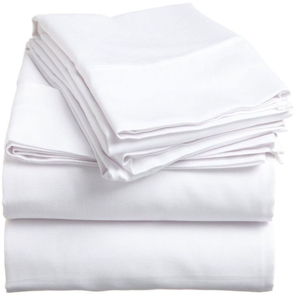 Spirit PremiumKing Size Bed Sheets in White