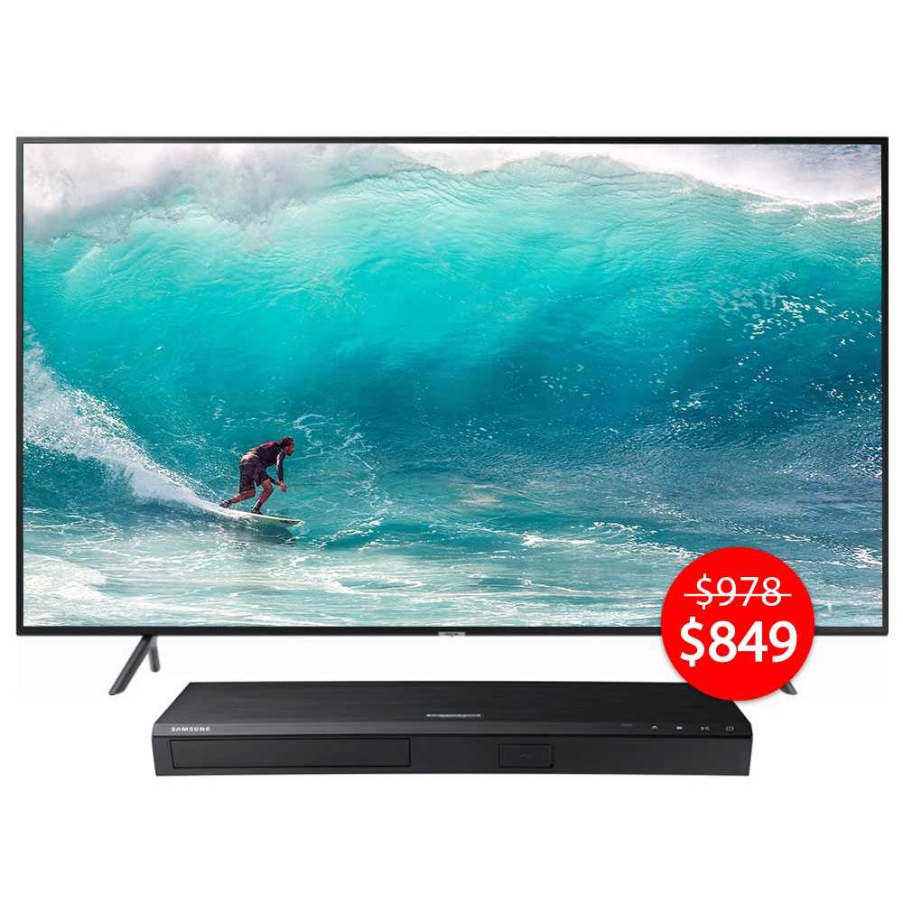 "c63105bde602 Samsung 50"" 4K Smart TV NU7100 2018 Model with FREE Samsung Blu-ray Player."