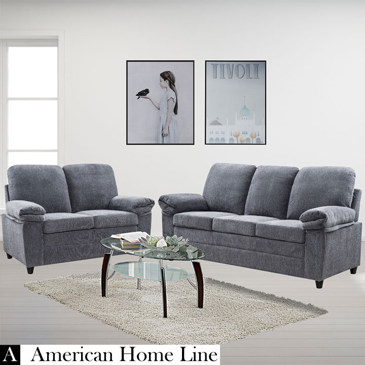 Fabulous London Grey Sofa Set Sofa Loveseat Luxury Edition Interior Design Ideas Clesiryabchikinfo