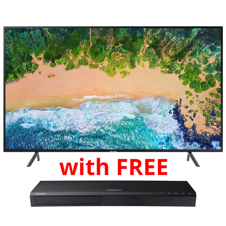 "Samsung 50"" 4K  UHD  HDR LED Smart TV  with FREE Samsung 4K Ultra HD Smart Blu-ray Player"