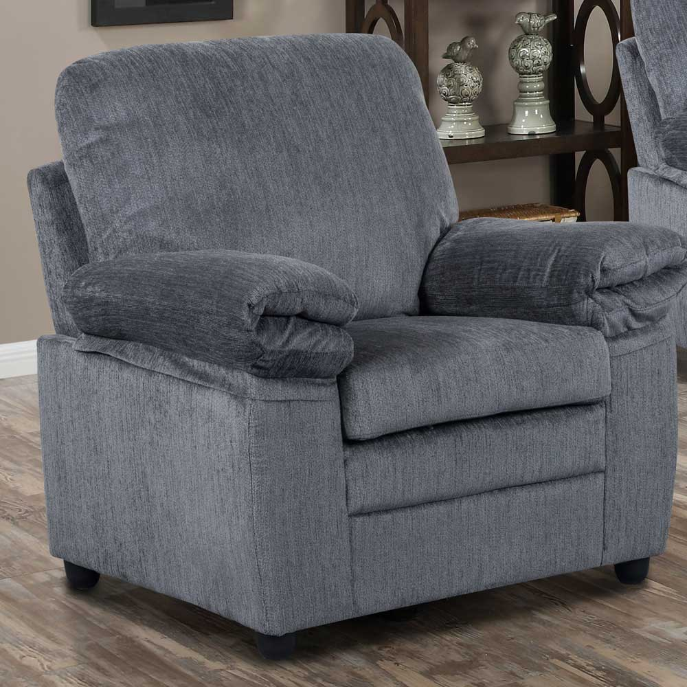 London Chair in Grey Chenille