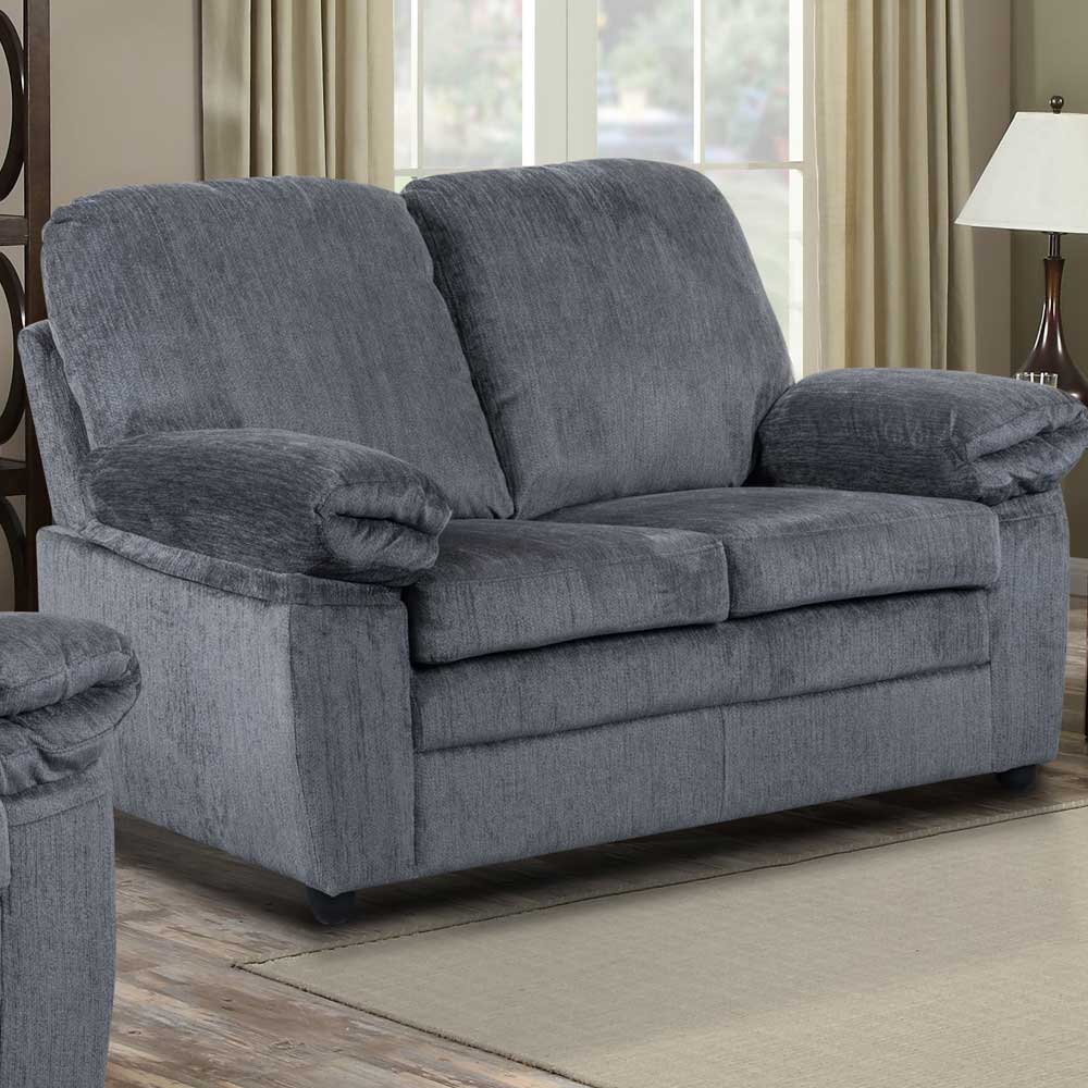 London Loveseat in Grey Chenille
