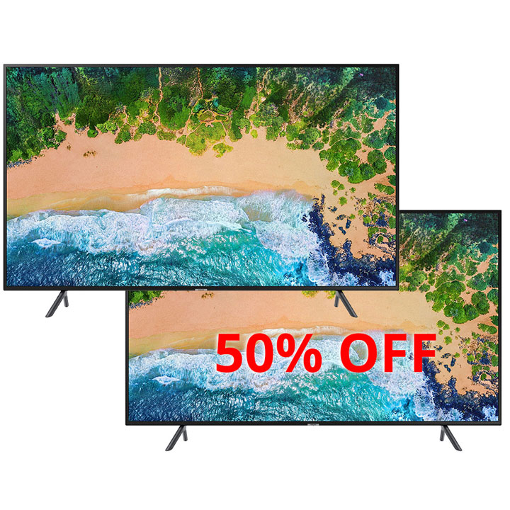 "Buy One Get One 50% OFF  Samsung 40"" 4K  LED TV NU7100  2018 Model"