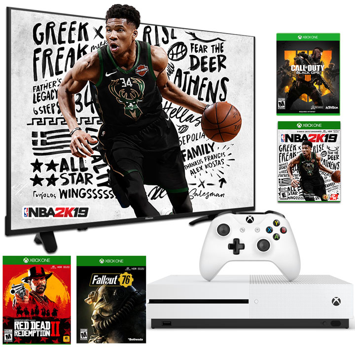 "Gamers Delight - Hisense 65"" 4K TV & Xbox One S 1TB + 4 GAMES"