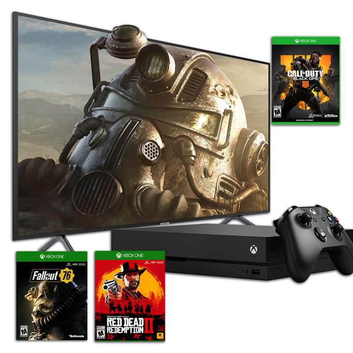 "Samsung 58""  4K UHD LED Smart TV NU7100 2018 Model & Xbox One X 1TB Bundle"