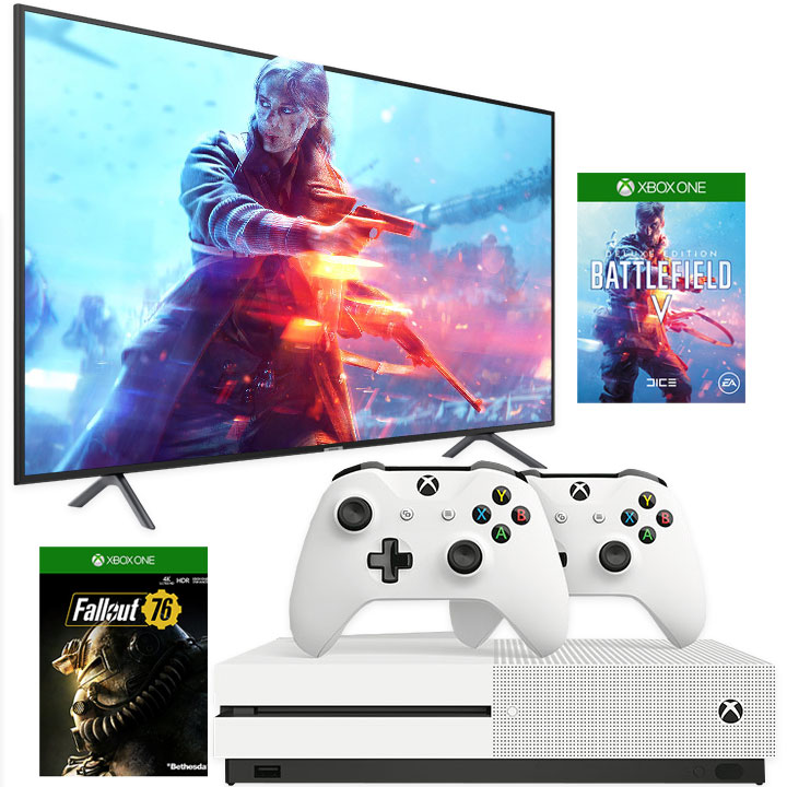 "Samsung 58"" 4K UHD LED Smart TV NU7100 & Xbox One S 1TB Bundle"