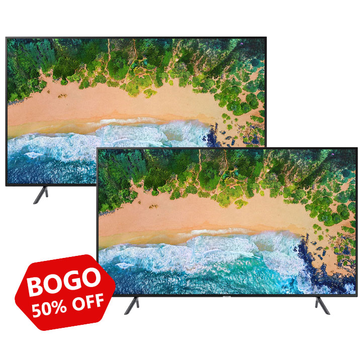 "Buy One Get One 50% OFF Samsung 43"" 4K NU7100 Tizen"