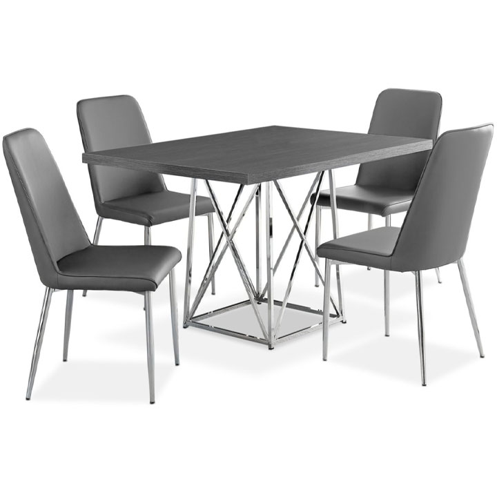 Marco 5-Piece Dining Package – Grey