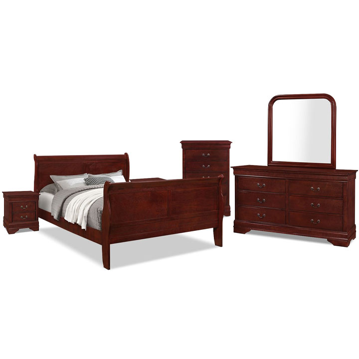 Lyla 8-Piece King Bedroom Package – Cherry