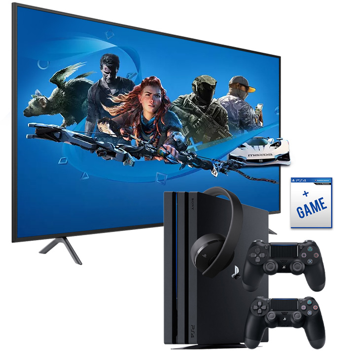 "Samsung 55"" 4K LED Smart TV NU7100 & PS4 Pro 1TB Bundle"