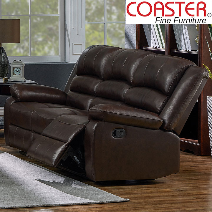 Denison Genuine Leather Reclining Sofa