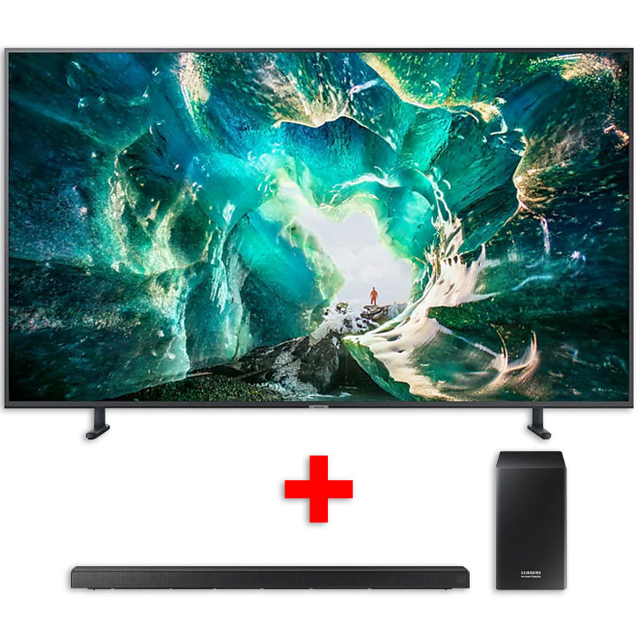 "Samsung 65"" UHD HDR LED 4K RU8000 Smart TV & Samsung 5.1Ch Harman/Kardon Soundbar Bundle"
