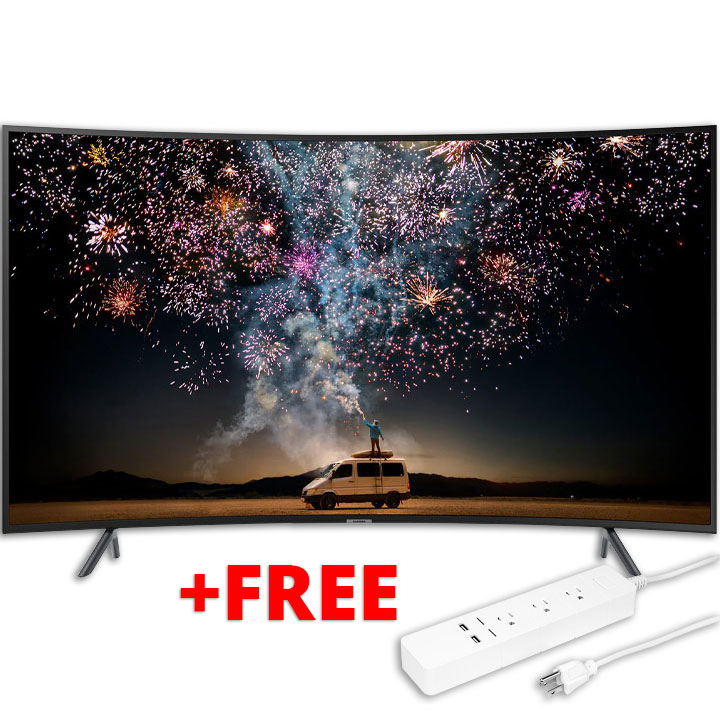 "Samsung 65"" UHD 4K Curved RU7300 Smart TV & FREE Aluratek Eco4life Smart Surge Strip"
