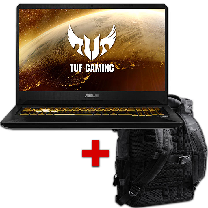 "Asus 17.3"" i7 Laptop ( 16GB / 512G SSD / Win 10 ) & TUF Gaming Backpack"