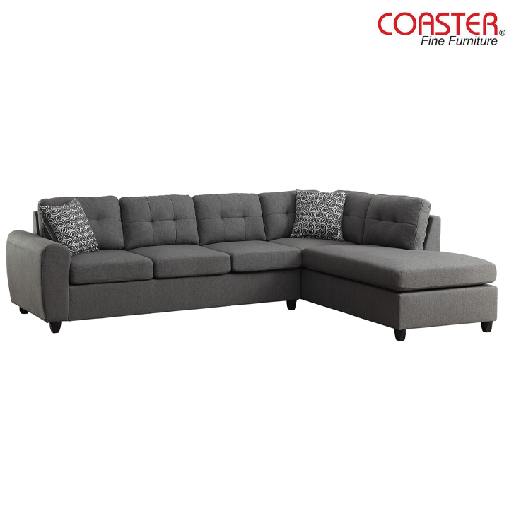 Stonenesse Reversible Sectional in Grey