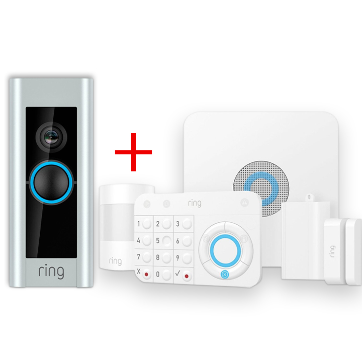 Ring 5 Piece Alarm & Ring Doorbell Pro Bundle