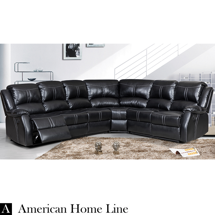 Lorraine Bel-Aire Ebony Left Facing Reclining Sectional