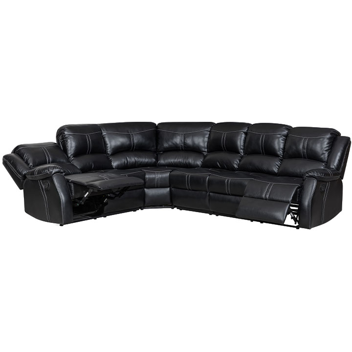 Lorraine Ebony Right Facing Reclining Sectional