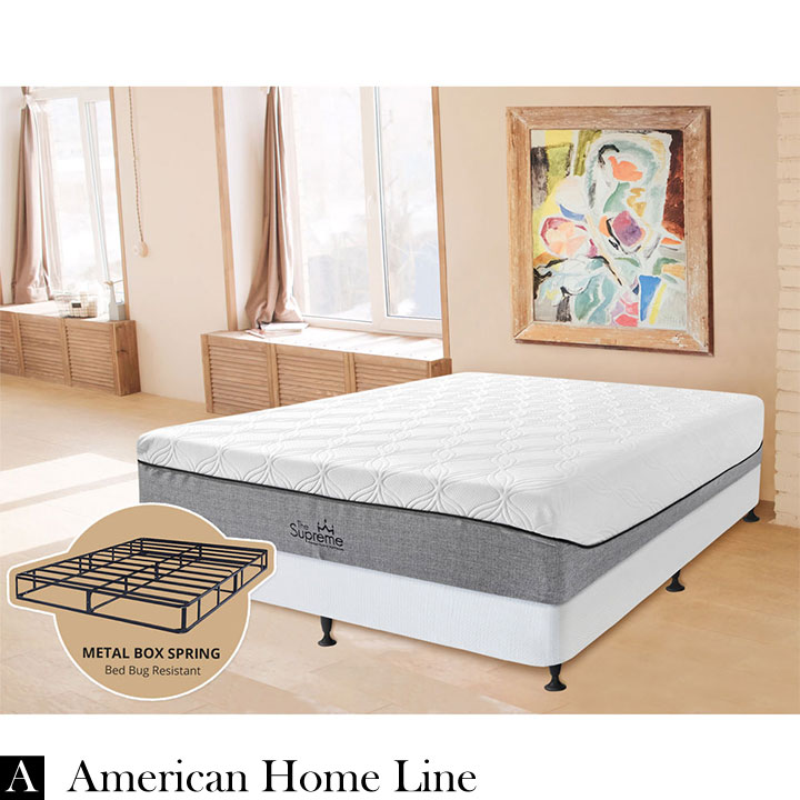 "The Supreme Hybrid 13"" Twin 2in1 Set Foam & Pocket Coil Mattress Hypoallergenic Bamboo"