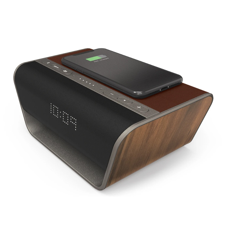 Cavalier Air Bluetooth+Wi-Fi Speaker with Wireless Charging and Built-in Alexa