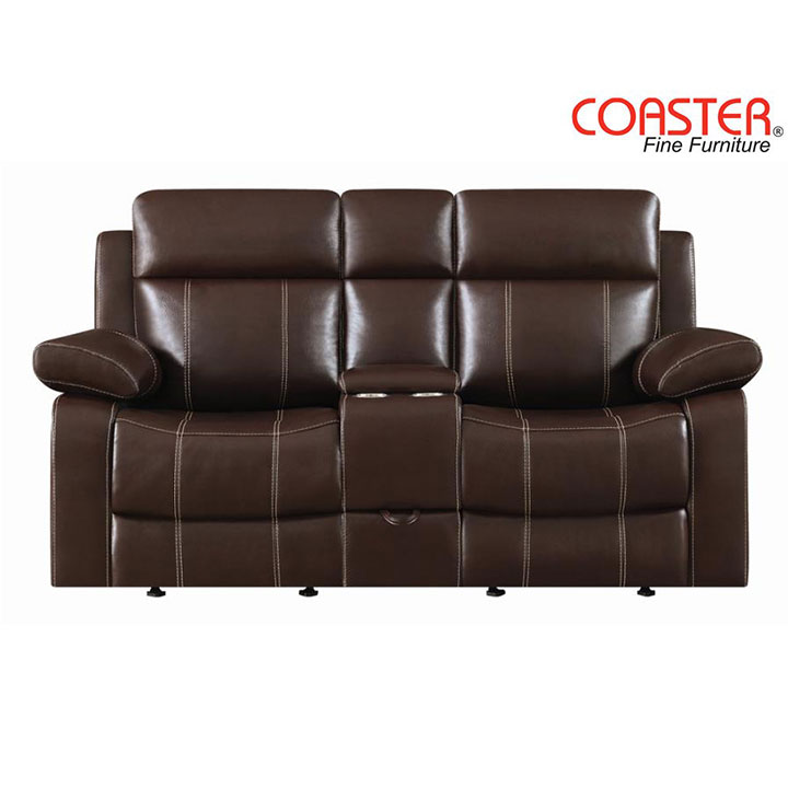 Myleene Glider Loveseat in Chestnut