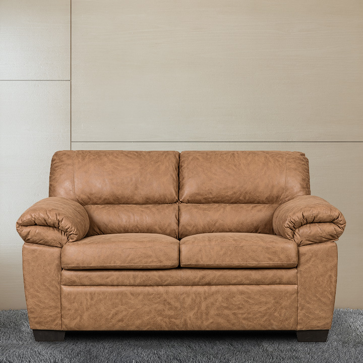 Jamieson Luxury Loveseat in Caramel