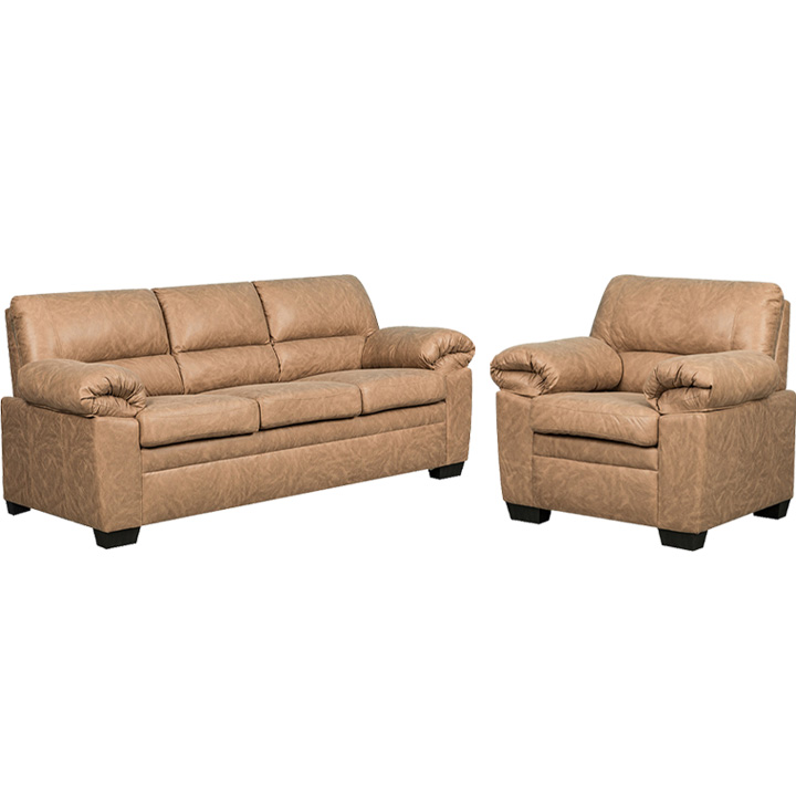 Jamieson Sofa Set Collection in Caramel, Includes: Sofa & Chair