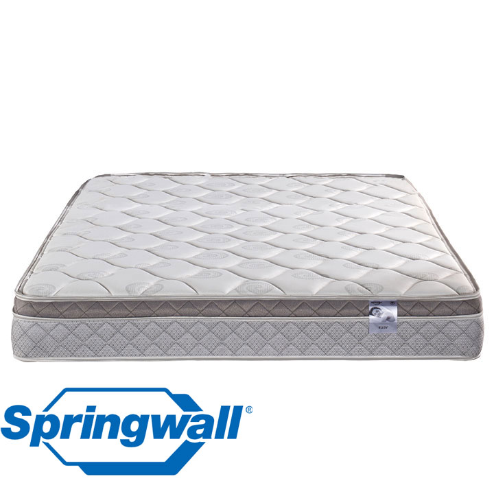 "Ruby 9.5"" Eurotop Plush Continuous Coil Twin Mattress"
