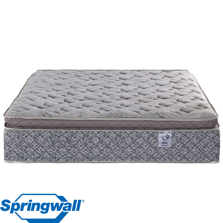 "Diamond 13"" Pillowtop Plush Pocket Coil Twin Mattress"