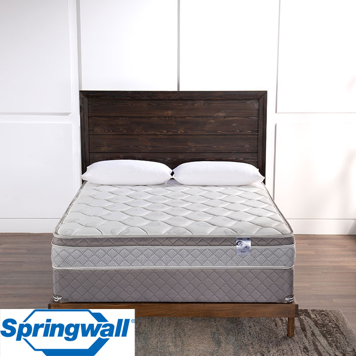 "Ruby 9.5"" Eurotop Plush Continuous Coil Full Mattress & Full Boxspring"