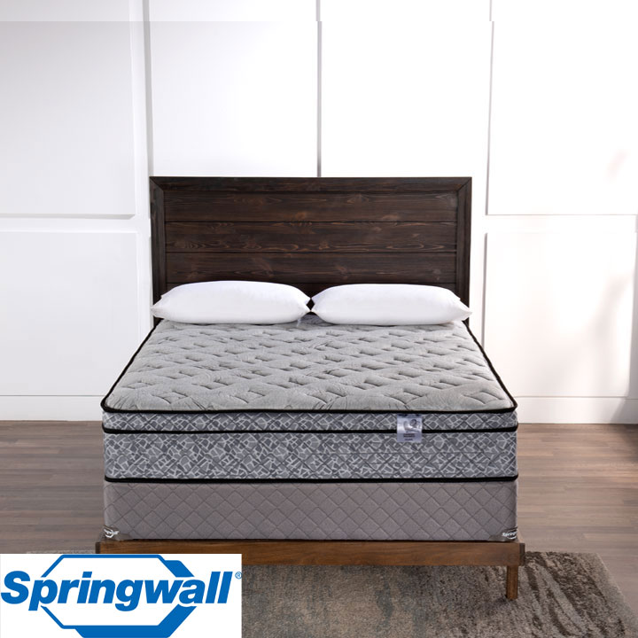 "Pearl 12"" Eurotop Luxury Firm Pocket Coil Queen Mattress & Queen Boxspring"