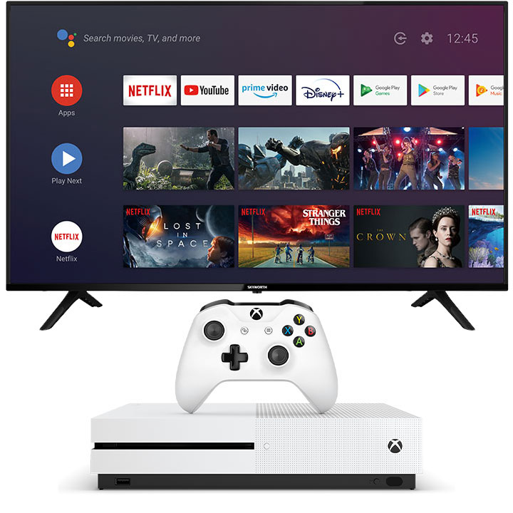 "Skyworth 55"" UC6200 4K UHD Smart TV & Xbox One S 1TB Bundle"