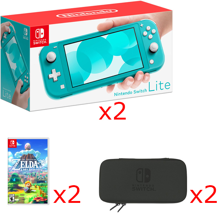 Nintendo Switch Lite BOGO Bundle in Turquoise