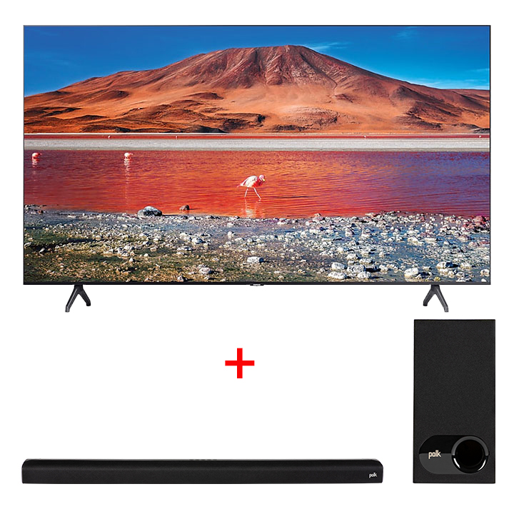 "Samsung 55"" TU7000 Crystal UHD 4K Smart TV & Polk Signa S2 Soundbar"