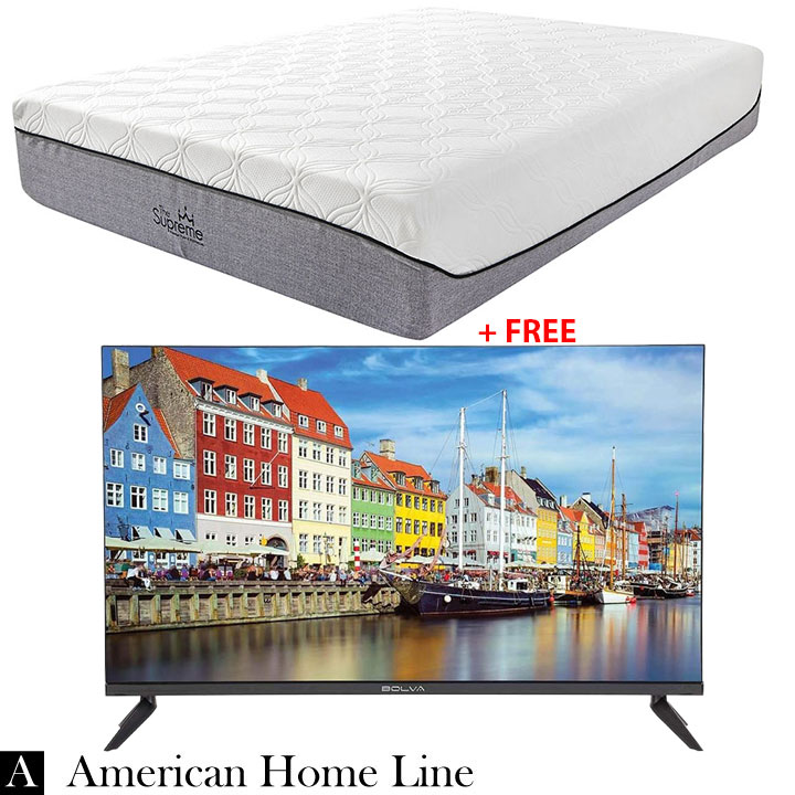 "The Supreme Hybrid 13"" Queen Mattress + FREE Bolva 32'' HD LED TV"